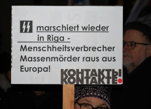 Berlin, 15.03.2016, Vor der Lettischen Botschaft